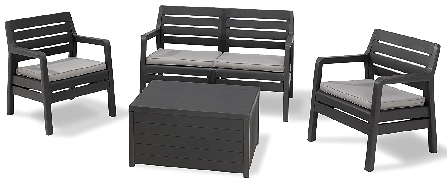 allibert lounge sofa california grau g nstig kaufen. Black Bedroom Furniture Sets. Home Design Ideas