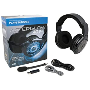 PDP Sony Licensed Afterglow AG 9+ Wireless Headset for PlayStation 4, Black, 051-044-NA-LIC - PlayStation 4 (Color: Black)