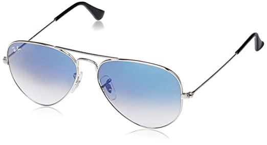ray ban clubmaster classic rb3016  Ray-Ban Aviator Sunglasses (Silver) (RB3025