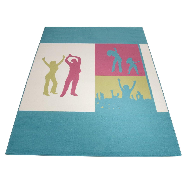 Floori Kurzflorteppich Joy Happy Dance – 160x225cm, blau günstig kaufen