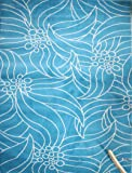 New Floral City Brand New Floral Contemporary Light Blue and White Modern Area Rug 4'3 x 5'6