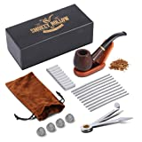 Tobacco Pipe | Pipes for Smoking Tobacco | Stylish, Cool and Distinguished Starter Pipe Kit | The Perfect Gift for a Classy Gentleman by Smokey Hollow Co