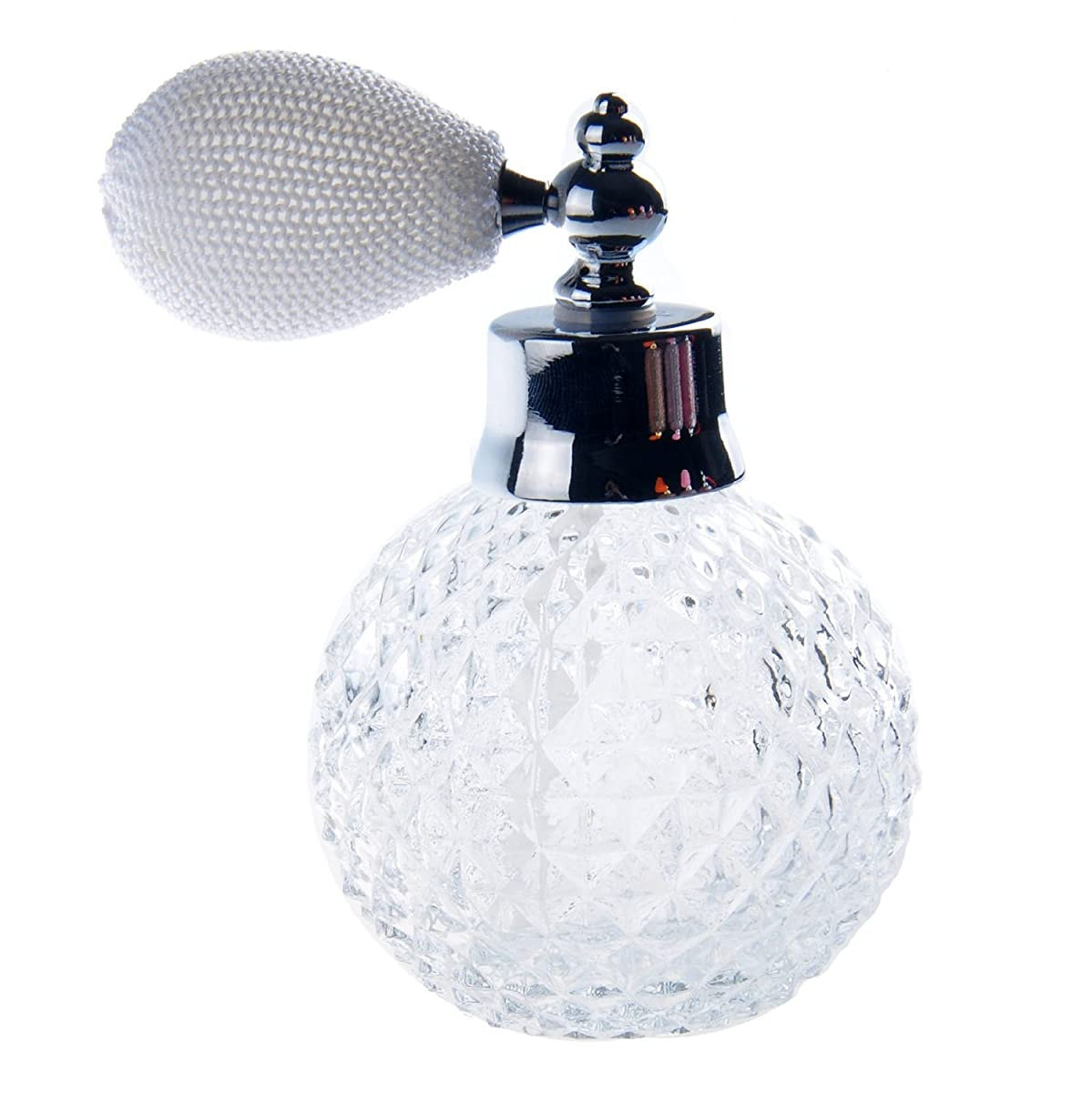 H&D Empty Crystal Vintage Perfume Replacement Spray Bottle Atomizer Luxury Series (clear)