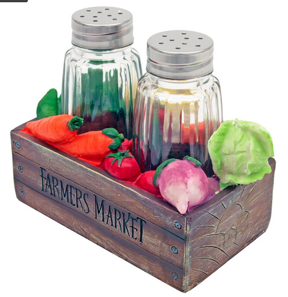 Veggie Box Salt & Pepper Shakers
