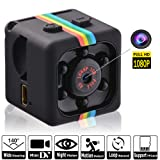 Hidden Camera HD 1080P Portable Video Recorder with Night Vision | Mini Spy Security Camera for Nanny/Housekeeper | Sports Action Cam with Motion Detection for Home, Car, Drone, Office and Outdoor Use (Color: Black\Grey)