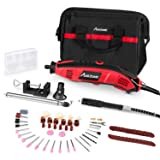 Avid Power Rotary Tool Kit with 102pcs Accessories, Flex shaft, 3 Attachments, Variable Speed, Holder Hanger and Cutting Guide for Home and Crafting Projects, MW119 (Color: Red & Black, Tamaño: Small)