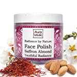 Auravedic Radiance by Nature Face Polish with Saffron Almond, 100gm.
