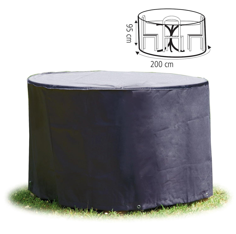 Schutzhülle rund Ø 200x95 cm Abdeckhaube in Premium-Qualität für Gartengarnitur Gartenmöbel