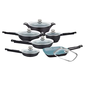 Deluxe Healthy Legend 11 Pc German Weilburger Ceramic Coating Non-stick Fry Pans and Sauce Pan Cookware set by Healthy Legend - Now Induction Ready Cookware review made in germany