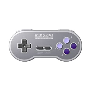 8Bitdo SN30 2.4G Wireless Controller for SNES Classic Edition (Color: SN30)