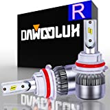 DAWOOLUX 9004 HB1 LED Headlight Bulbs Conversion Kit-Philips Chips/Internal Driver-Dual All-in-one High/Low Beam Extremely Bright 6000K Cool White 7600 Lumens 72W, 2-Years Warranty