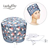 110V Electric Hair Cap Thermal Cap For Hair Spa Home Hair Thermal Treatment Beauty Steamer Spa Cap Nourishing Hair Care Hat Free size (Color: Blue, Tamaño: Free size)