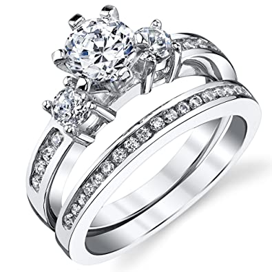 2 Piece Wedding Ring Sets