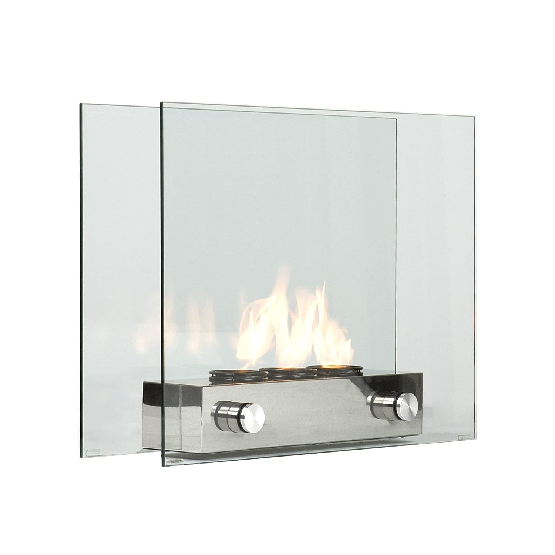Portable Fireplace Floor Standing Glass Indoor Outdoor Home Modern Decor Patio Ebay