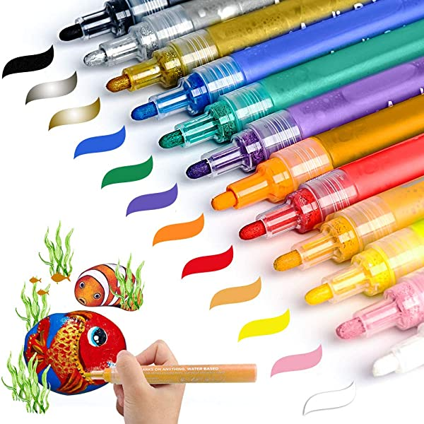Acrylic Paint Marker Pens Akarued Paint Pens For Rock
