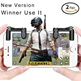 Mobile Game Controller[ Updated Version ] Sensitive Shoot and Aim Press L1R1 Button for Plug Game, Racing Game, Shoot Game Compatible with all IOS and Android Cellphone. (Color: black)
