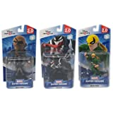 Disney Infinity: Heroes 2.0 Edition Venom, Nick Fury & Iron Fist (2.0 Series) Spider-Man Series Figurines- Not Machine Specific
