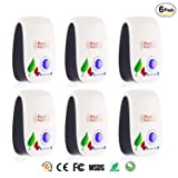 [2018 Upgraded] 6 Packs Ultrasonic Pest Repeller, Electronic Plug-In Ultrasonic Pest Control, Best Pest Repellent for Cockroach, Rodents, Flies, Roaches, Ants, Mice,Spiders, Fleas. Daily-Necessities (Tamaño: repeller 6 pack Original)