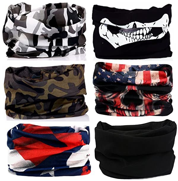KALILY 6PCS Headband Bandana - Versatile Sports   Casual Headwear –Multifunctional  Seamless Neck Gaiter a92e1c53d5d2