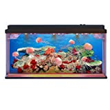 Lightahead Artificial Aquarium Jellyfish Lamp. Swimming Jellyfish Tank with Bubbles and Multi Colored LED Big Size (Jellyfish)