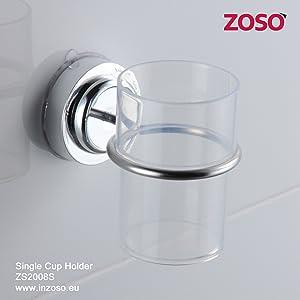 Sujetador para un vaso - ZOSO - Productos de ventosa super potentes   Comentarios de clientes y más información