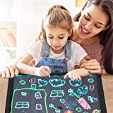 Sensory LED Message Writing Board Illuminated Light Dry Erase Board Kids Drawing Painting Board Doodle Graphics Tablets Educational Toys with 8 Chalk Marker & Remote Control (6040cm) (Color: 60*40cm)