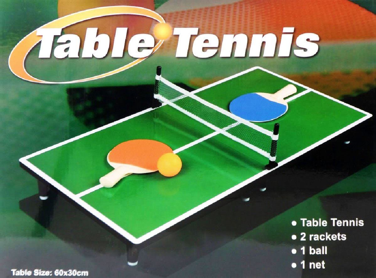 Mini Portable Tabletop Table Tennis Ping Pong Game Set