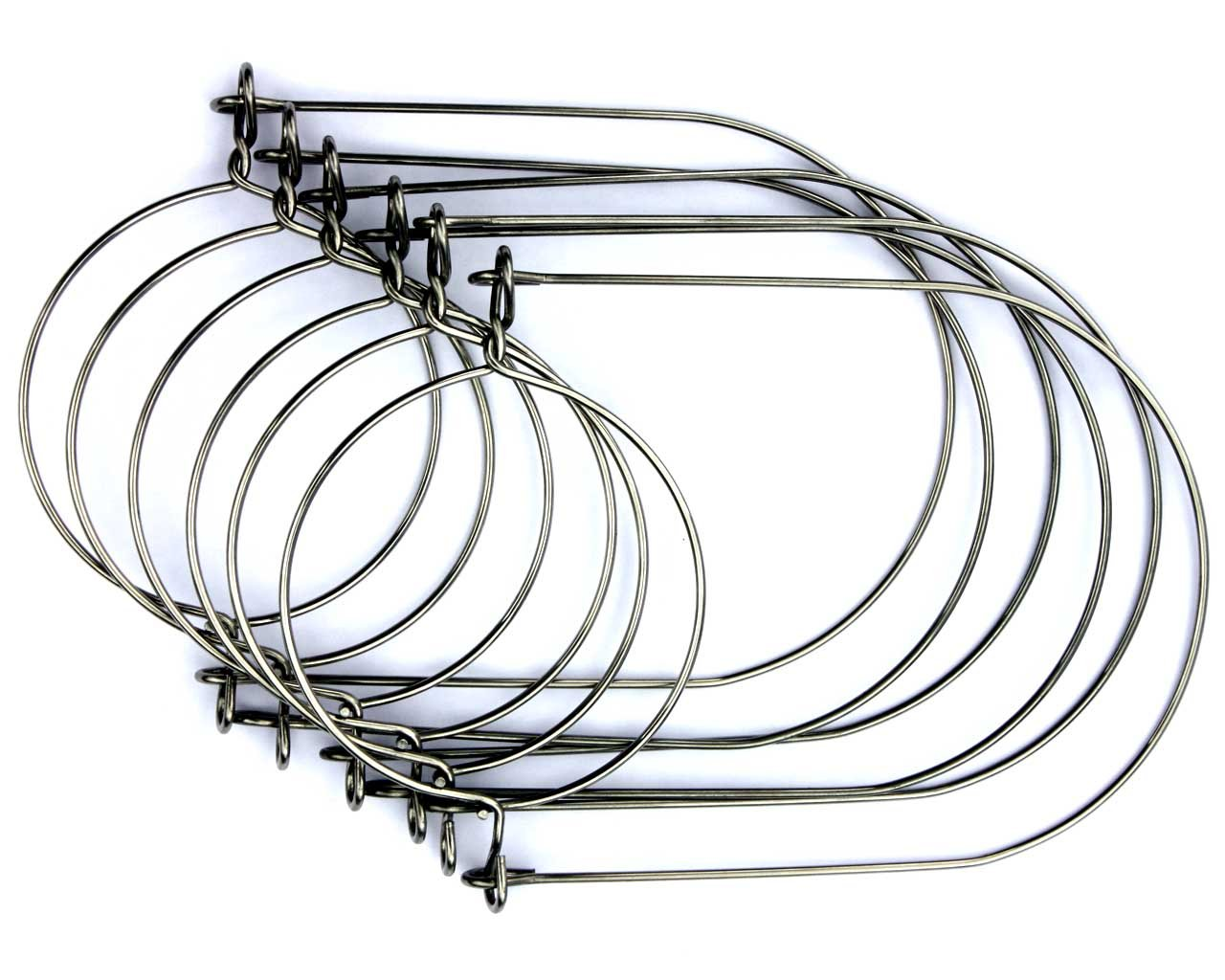 6 Stainless Steel Wire Handles for Mason, Ball, Canning Jars (Regular Mouth)