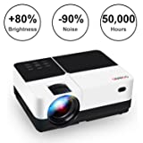 """Video Projector, GEARGO 2800 Lumens HD Portable Projector with 185"""" and 1080P Support , Compatible with Amazon Fire TV Stick/ Laptop/ SD/ XBOX/ iPad iPhone Android for Home Theater (Tamaño: 4.3 inch)"""