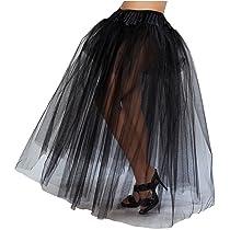 Roma Full Length Layered Mesh Black Petticoat