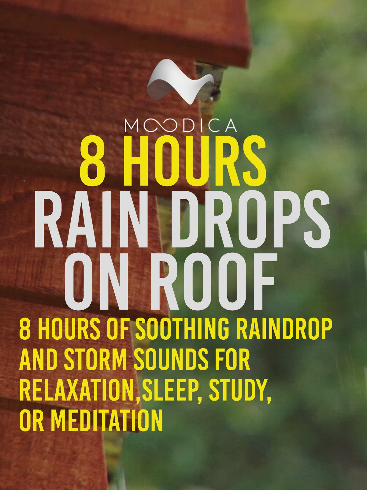 8 Hours: Rain Drops On Roof: 8 Hours of Soothing Raindrop and Storm Sounds for Relaxation, Sleep, Study or Meditation