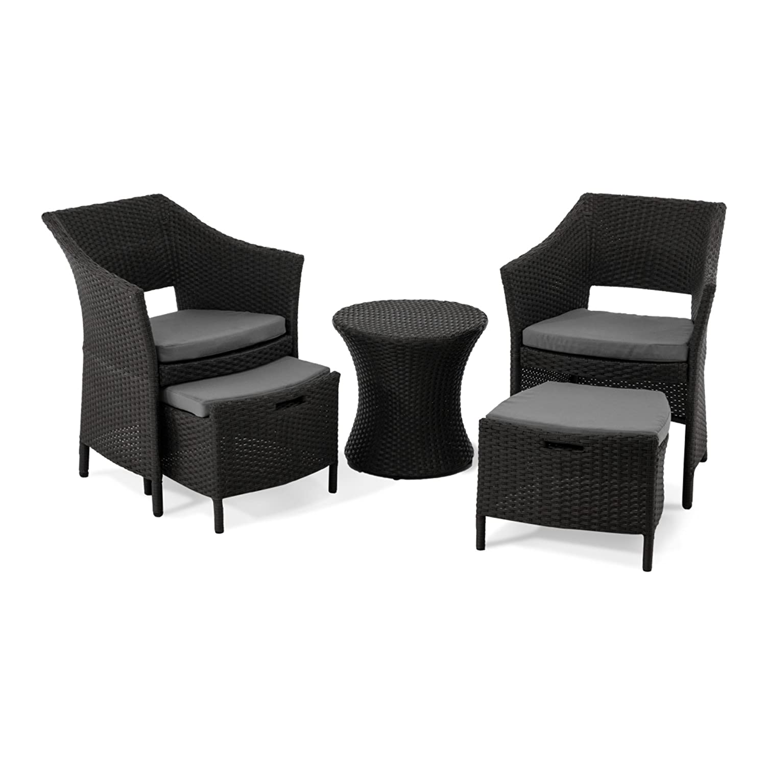 gartenm bel set 5 tlg mit sitzauflagen kunstrattan ca b63 x t64 x h80 cm g nstig online kaufen. Black Bedroom Furniture Sets. Home Design Ideas