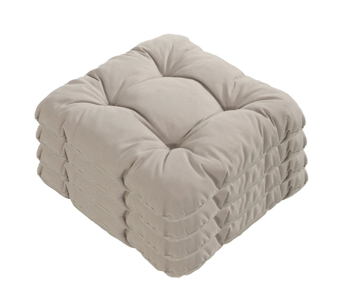 Dehner Susa-Sitzkissen, 4 Stück, je ca. 38 x 38 cm, hellgrau günstig kaufen