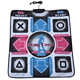 Bewinner Dance Pad for Kids Adults Non-Slip Durable Wear-Resistant Dancing Step Pad Musical Play Mat Dancer Blanket with USB Connection for PC/Windows 98/2000/ XP/ 7OS, Gifts for Kids (Color: default)
