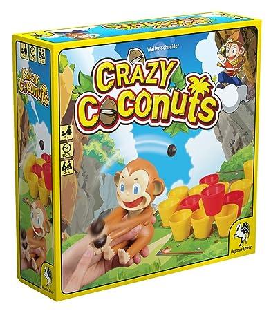 Pegasus Spiele 52153G - Crazy Coconuts, Gioco da tavolo [lingua tedesca]