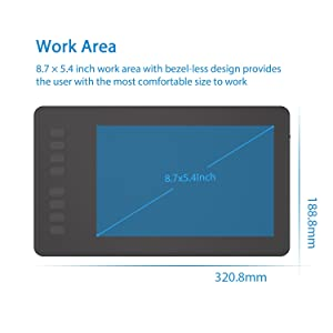 Huion H950P Drawing Tablet Battery-Free Graphics Tablet with 8192