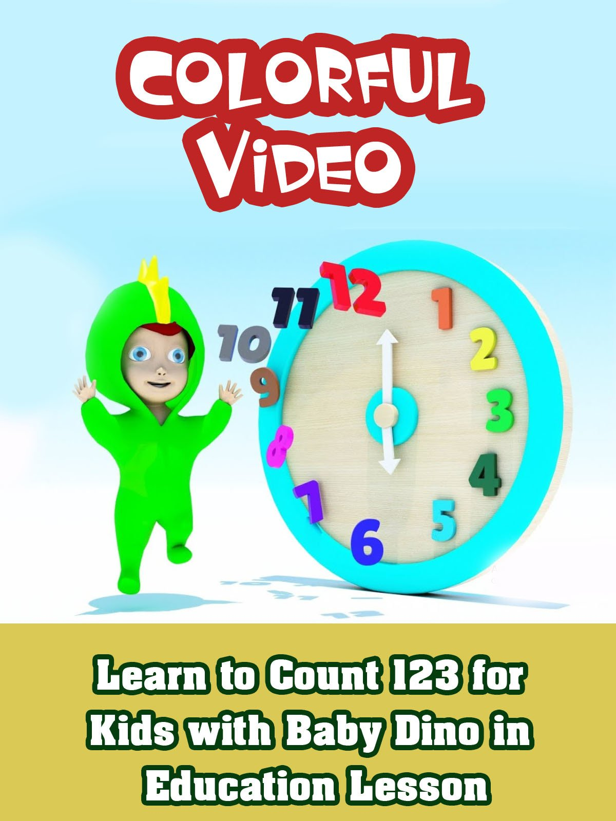 Learn to Count 123 for Kids with Baby Dino in Education Lesson