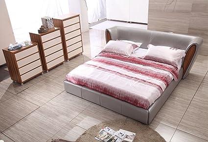 Modrest BL9050 Modern Beige Leatherette Bed