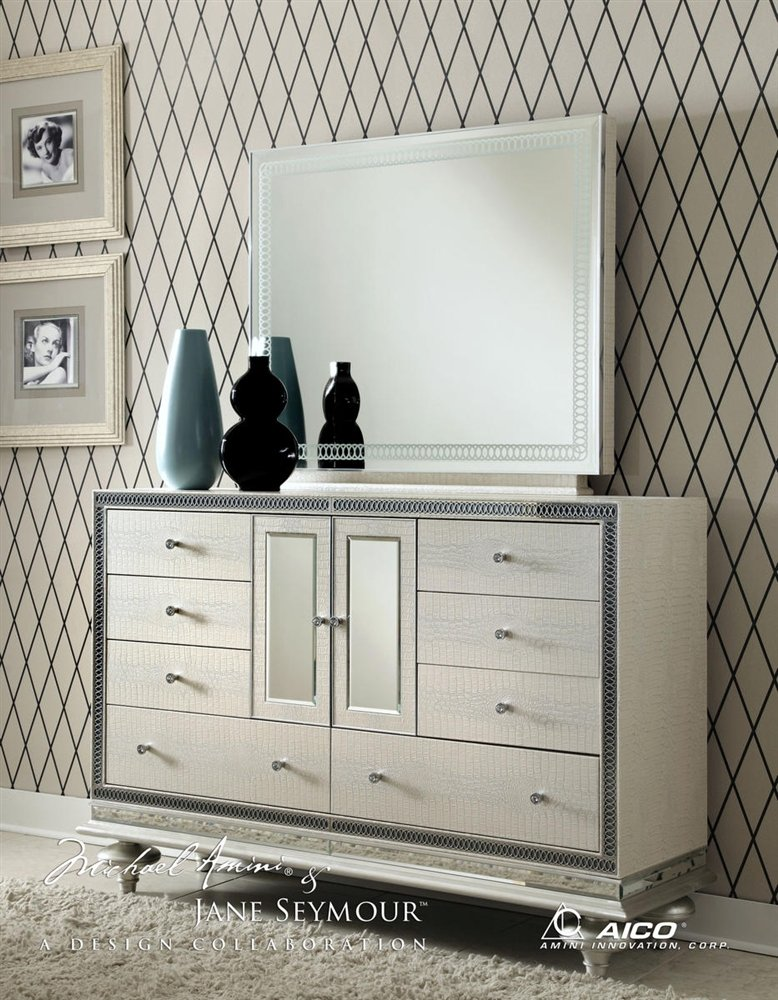 hollywood swank queen graphite bedroom set by aico amini
