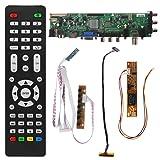 Kalttoyi V56 V59 LCD TV Driver Board DVB-T2+7 Key Switch+IR+1 Lamp Inverter+LVDS Kit 3663
