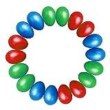 TSLIKANDO 18pcs Egg Shakers Plastic Egg Music Shakers for Kids Maracas Eggs Percussion Toys