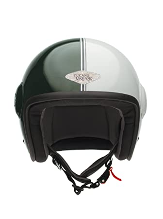 Tucano urbano 1100463 eL'fibreglass mET casque double usage, or, visor without with two tons vert, taille unique