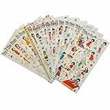18 Sheet/lot Cute Girl PVC Transparent Stickers Kawaii Stationery Planner Diary Scrapbooking Handmade DIY Craft Decor Decorative Label
