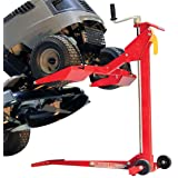 MoJack EZ Max - Residential Riding Lawn Mower Lift, 450lb Lifting Capacity, Fits Most Residential & Ztr Mowers, Folds Flat For Easy Storage, Use for Mower Maintenance Or Repair (Color: red, Tamaño: 450lb Lifting Capacity)