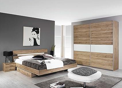 Schlafzimmer, Schlafzimmermöbel, Set, komplett, Komplettset, Schlafzimmereinrichtung, komplettangebot, Einrichtung, 3-teilig, Bett, San Remo, Rauch