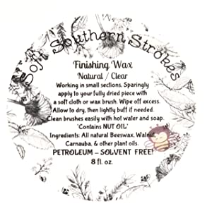 Clear Soft Finishing Wax to Seal and Protect Chalky Finish and Milk Painted Furniture. Eco- Friendly Beeswax Blend Will Not Yellow, No Harmful Fumes! Skin Safe, Matte Finish (Color: Clear, Tamaño: 8 oz)