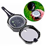 1 Set Precision Magnetic Pocket Transit Geological Compass Keychain Scale 0-360 Degrees Survival Emergency Life Military Bang-up Popular Outdoor Camping Whistle Backpack Map Guide Tools Kits