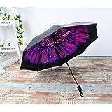 BESTFUN Travel Umbrella - lightweight Rain Umbrella for Men and Women, Windproof Folding Compact Umbrellas with Multiple Colors (Purple) (Color: Purple)
