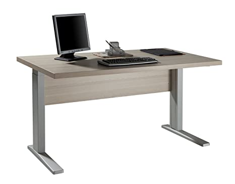 Scrivania in kit componibile studio ufficio legno frassino SR7023 L150h76p80