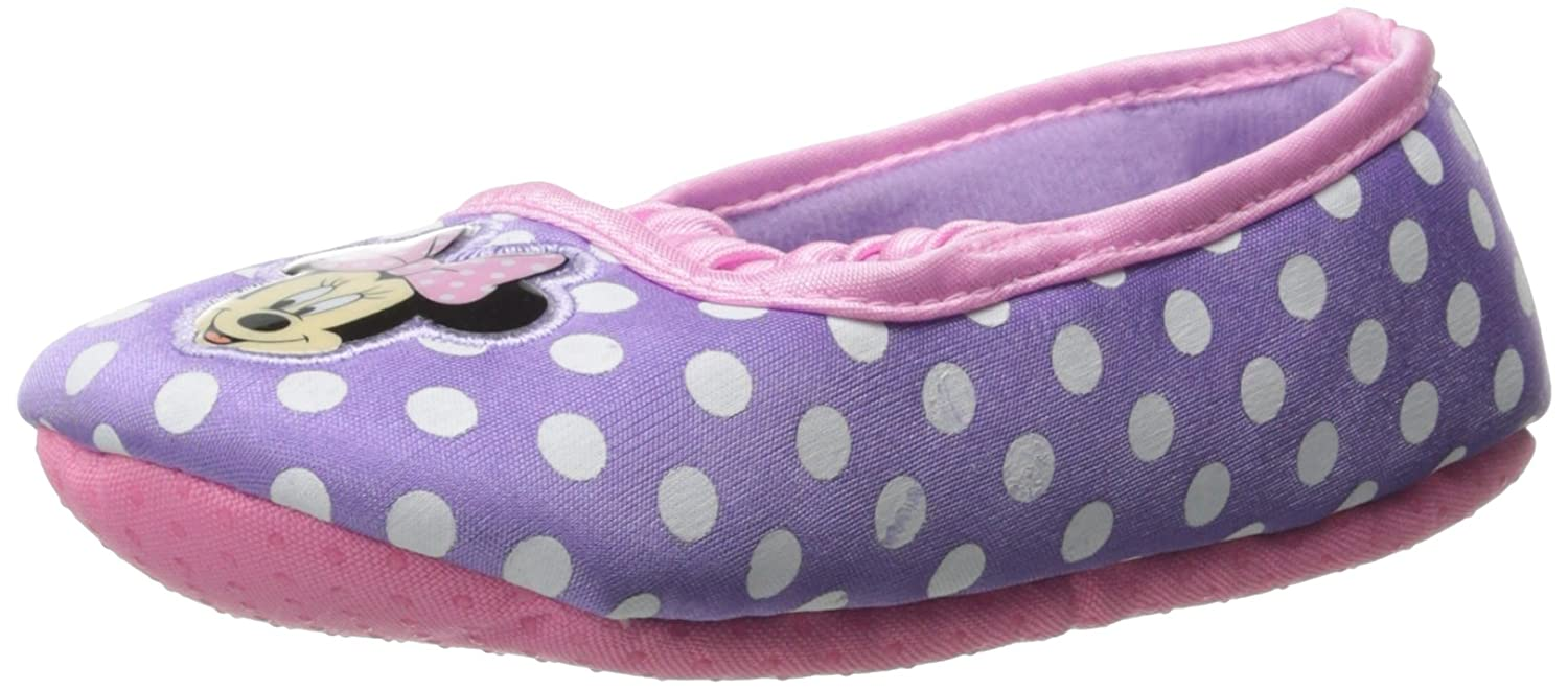Minnie Mouse Purple Ballet Flat Slippers for Toddler Girls
